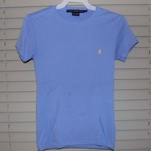 Crew neck polo tee! Super comfortable great color